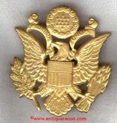WW II US ARMY OFFICER CAP BADGE - FOX