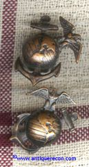 WW II US MARINE CORPS ENLISTED COLLAR INSIGNIA