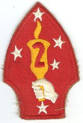 USMC 2nd MARINE DIVISION PATCH - VARIANT