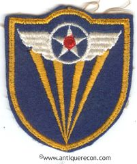 WW II US ARMY 4th AIR FORCE PATCH ON FELT