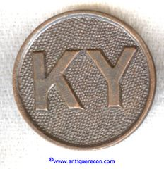 WW I US ARMY ENLISTED STATE COLLAR DISK - KENTUCKY