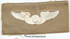 WW II US ARMY COMBAT OBSERVER WING - KHAKI