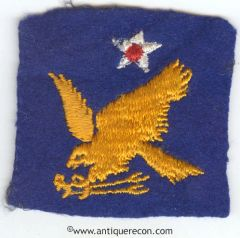 WW II US ARMY 2nd AIR FORCE PATCH ON FELT
