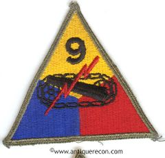 US ARMY 9th ARMORED DIVISION PATCH