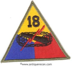 US ARMY 18th ARMORED DIVISION PATCH