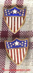 US ARMY ADJUTANT GENERAL OFFICER COLLAR BRASS 1920's