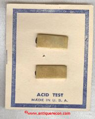 WW II USMC 2nd LT or USN ENSIGN SHIRT COLLAR RANK INSIGNIA - ACID TEST