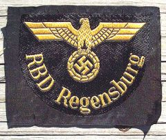 WW II GERMAN RBD REGENSBURG SHOULDER PATCH