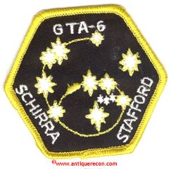 NASA GEMINI 6 GTA-6 MISSION PATCH