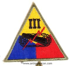 US ARMY III ARMORED CORPS PATCH