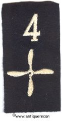 WW I US ARMY 4th AERO SQUADRON ENLISTED SLEEVE INSIGNIA