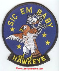 US NAVY VAW-116 SIC EM BABY HAWKEYE PATCH
