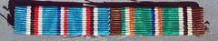 WW II US AMERICAN CAMPAIGN AND EUROPEAN AFRICAN MIDDLE EASTERN CAMPAIGN RIBBON BAR - SEW ON STYLE