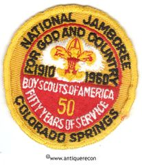 BSA NATIONAL JAMBOREE COLORADO SPRINGS 50th ANNIVERSARY PATCH