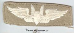 WW II US ARMY AERIAL GUNNER WING - KHAKI