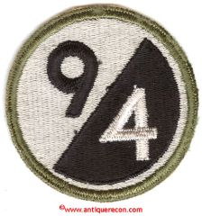 WW II US ARMY 94th INFANTRY DIVISION PATCH