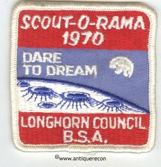 BSA LONGHORN COUNCIL SCOUT-O-RAMA 1970 PATCH