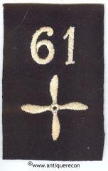 WW I US 61st AERO SQUADRON ENLISTED SLEEVE INSIGNIA