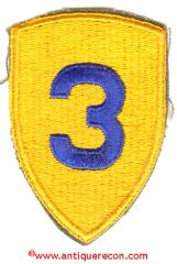 WW II US ARMY 3rd CAVALRY DIVISION PATCH