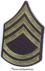WW II US ARMY TECHNICAL SARGENT 2nd GRADE RANK STRIPES ON FELT