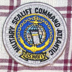 US NAVY MILITARY SEA LIFT COMMAND ATLANTIC PATCH