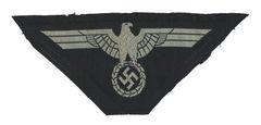 WW II GERMAN SS BREAST EAGLE - BEVO WEAVE