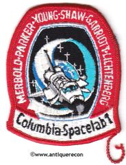 NASA COLUMBIA SPACELAB1 STS-9 MISSION PATCH - SMALL