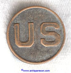 WW I US ARMY ENLISTED US COLLAR DISK