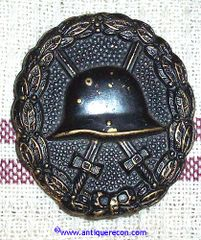 WW I GERMAN BLACK WOUND BADGE