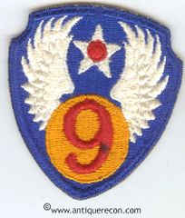 WW II US ARMY 9th AIR FORCE PATCH
