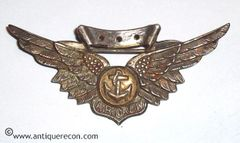 WW II US NAVY COMBAT AIR CREW WING - STERLING - VANGUARD