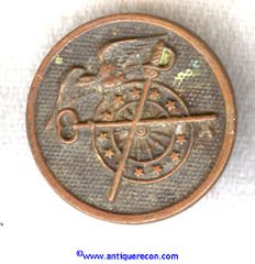 WW I US ARMY ENLISTED QUARTERMASTER CORPS COLLAR DISK