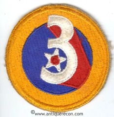 WW II US ARMY 3rd AIR FORCE PATCH