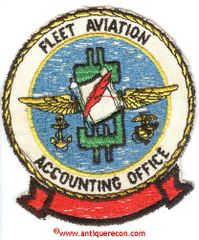 US NAVY FLEET AVIATION ACCOUNTING OFFICE PATCH