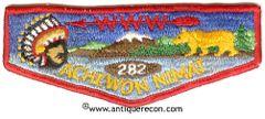 BSA ACHEWON NIMAT LODGE 282 POCKET FLAP - ORDER OF THE ARROW