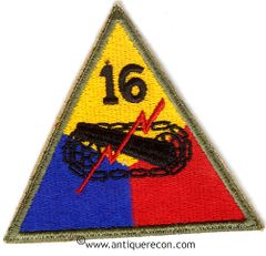 US ARMY 16th ARMORED DIVISION PATCH