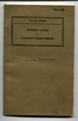 US ARMY TM 1-413 AIRCRAFT INSTRUMENTS - 1940