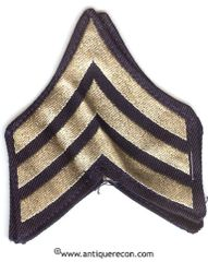 WW II US ARMY SARGENT RANK STRIPES - FLAT WOVEN