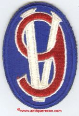 WW II US ARMY 95th INFANTRY DIVISION PATCH