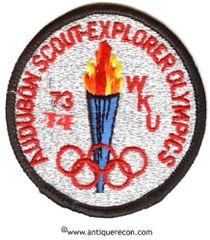 BSA AUDUBON SCOUT EXPLORER OLYMPICS 1974 PATCH
