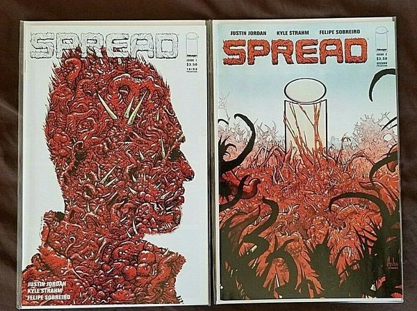 SPREAD #1 & 2 Variant 3rd & 2nd PRINTS Horror Image Comics Lot NM
