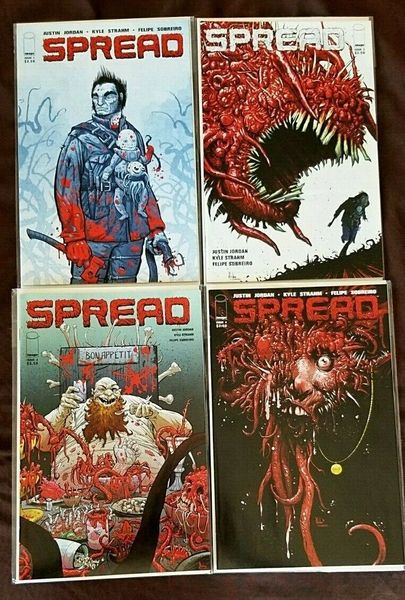 SPREAD #1 2 3 4 1st PRINTS Horror Image Comics Lot NM