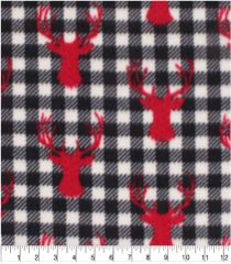 Stag head on Plaid