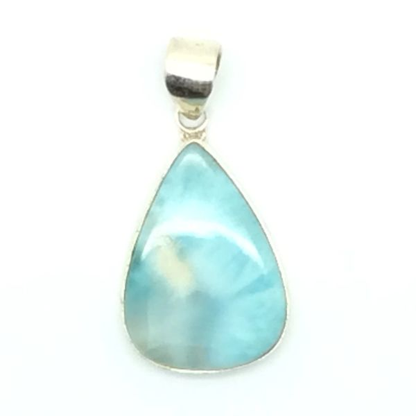 Larimar pendant with sterling silver jade and uniquely hand larimar pendant with sterling silver gem stone from the dominican republic 101 aloadofball Image collections