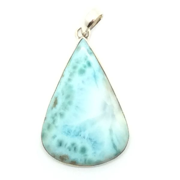 Larimar pendant with sterling silver 102 jade and uniquely hand larimar pendant with sterling silver gem stone from the dominican republic 102 aloadofball Image collections