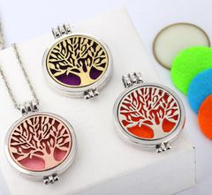 Tree of Life Diffuser Necklace for Essential Oils