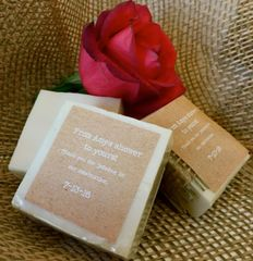 Personalized Shower Favor Soaps