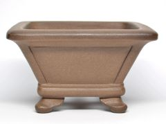 Unglazed Square Chinese Container - 5.5x3