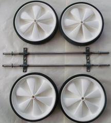 White low profile wheels & axle set