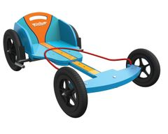 Gulf Race Wooden Boxkart with Free Driving Gloves Included